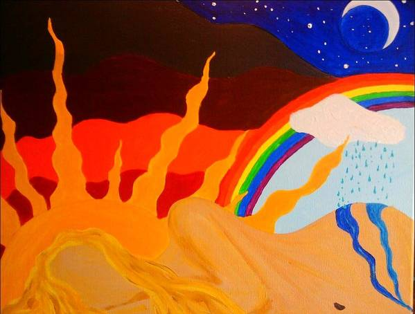 Dream Poster featuring the painting Dreaming by Charles Jennison