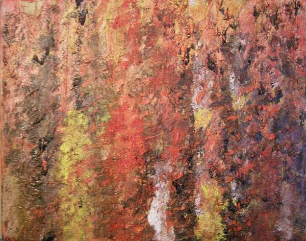 Abstract Poster featuring the painting Dreaming In Fall Colors by Don Phillips