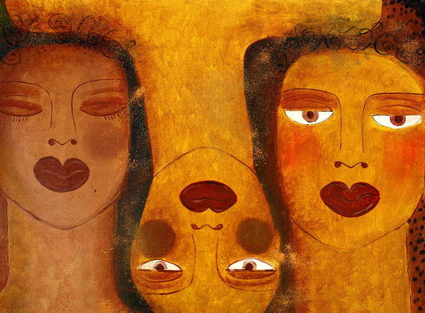 Sisters Artwork Poster featuring the painting Dreams by Helen Gerro