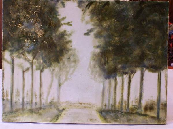 Landscape Poster featuring the painting Dreamy Walk by Karla Phlypo-Price