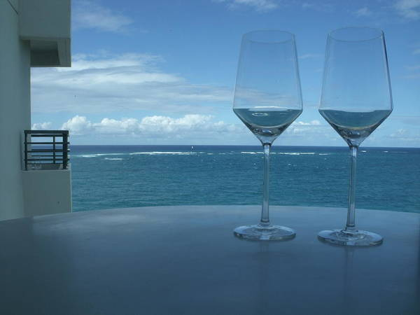 Wine Glasses Poster featuring the photograph Drinks On The Terrace by Anna Villarreal Garbis