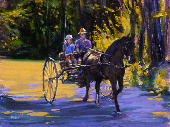 Horse Poster featuring the painting Driver Training by Ken Fiery