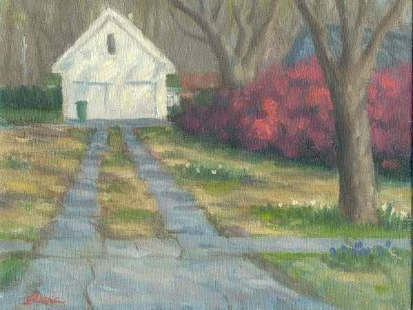 Landscape Poster featuring the painting Driveway by Michael Gillespie