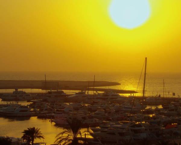 Dubai Marina Jumeirah Sunset Boat Yacht Emirates Arabian Sea Poster featuring the photograph Dubai Marina Jumeirah Sunset by Iain MacVinish