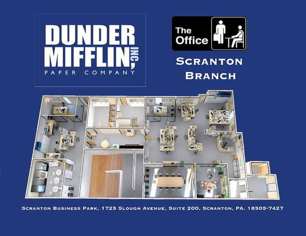 Dunder Mifflin Floor Plan Poster By Paul Van Scott
