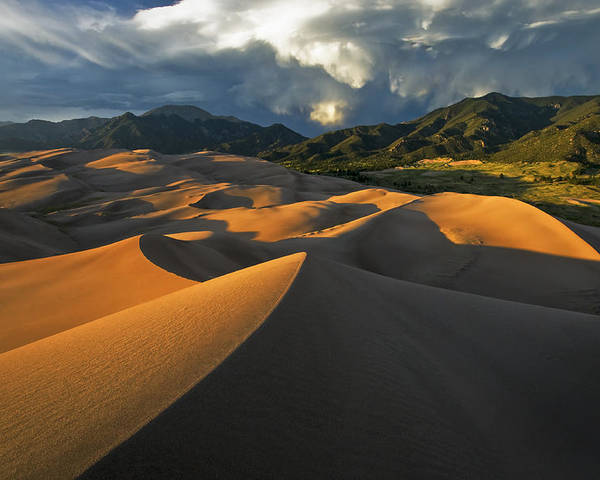 Dunes Poster featuring the photograph Dunescape Monsoon by Joseph Rossbach