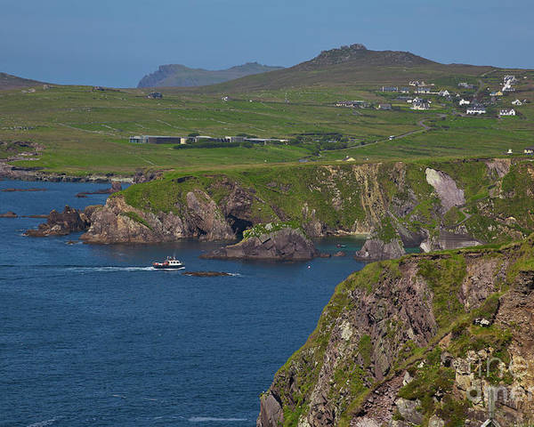 Kerry Coast Poster featuring the photograph Dunquin Bay And Coast by Gabriela Insuratelu