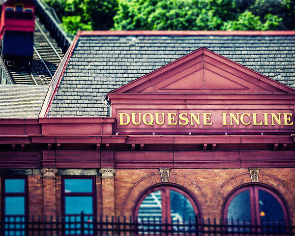 Pittsburgh Poster featuring the photograph Duquesne Incline Of Pittsburgh by Lisa Russo