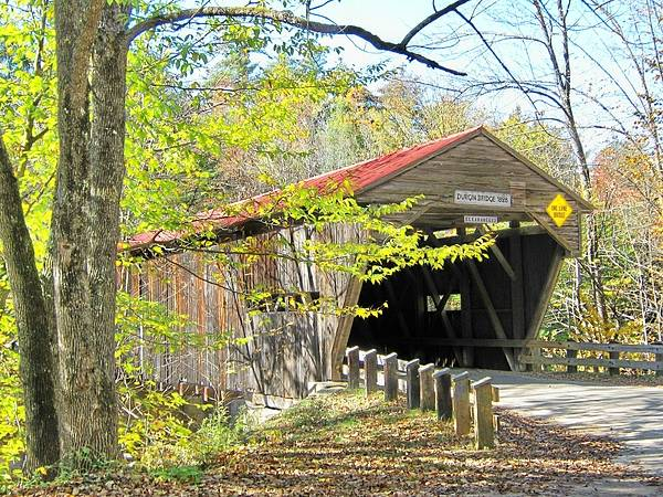 Nh Poster featuring the photograph Durgin Covered Bridge by Wayne Toutaint