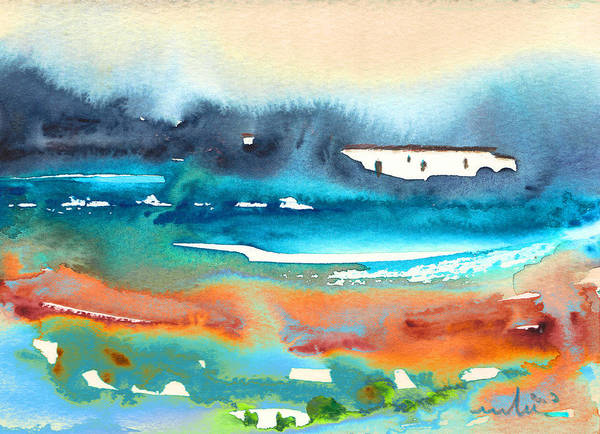 Watercolour Landscape Poster featuring the painting Early Morning 17 by Miki De Goodaboom