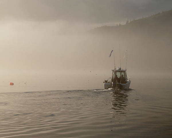 Places Poster featuring the photograph Early Morning Fishing Boat by Chad Davis