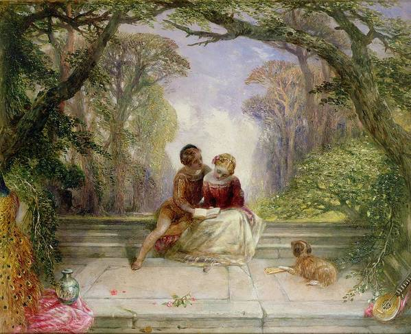 Early Summer By Alfred Woolmer (1805-92) Poster featuring the painting Early Summer by Alfred Woolmer