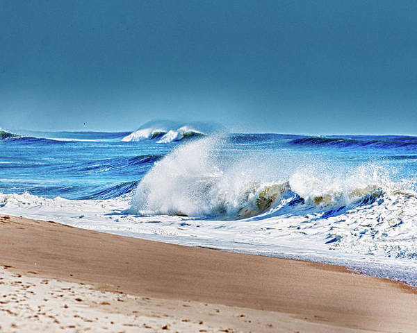 Beach Poster featuring the photograph East End Long Island by Linda Pulvermacher