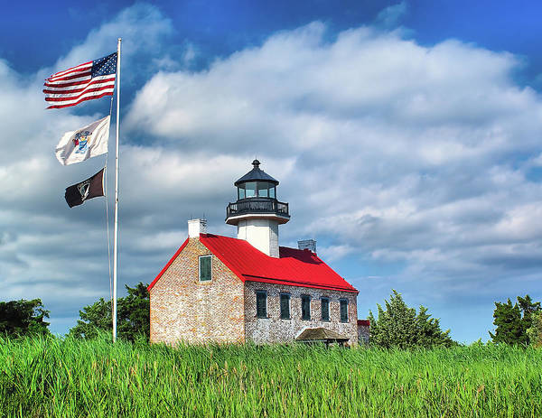 Bay Poster featuring the photograph East Point Lighthouse Nj by Nick Zelinsky