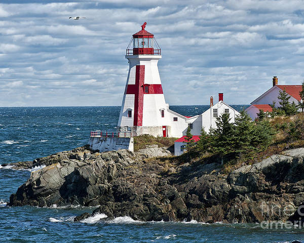 Campobello Island Poster featuring the photograph East Quoddy Lighthouse by John Greim