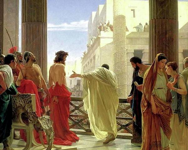 Behold The Man Poster featuring the painting Ecce Homo by Antonio Ciseri