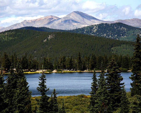 Colorado Poster featuring the photograph Echo Lake Colorado by Marilyn Hunt