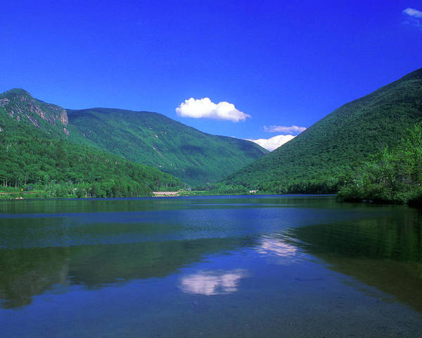 New Hampshire Poster featuring the photograph Echo Lake Franconia Notch by John Burk