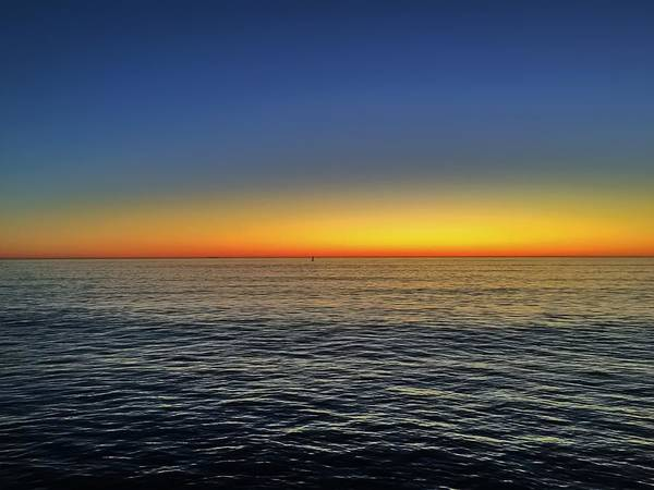 Ocean Poster featuring the photograph Edge Of Day by Michael Krugman