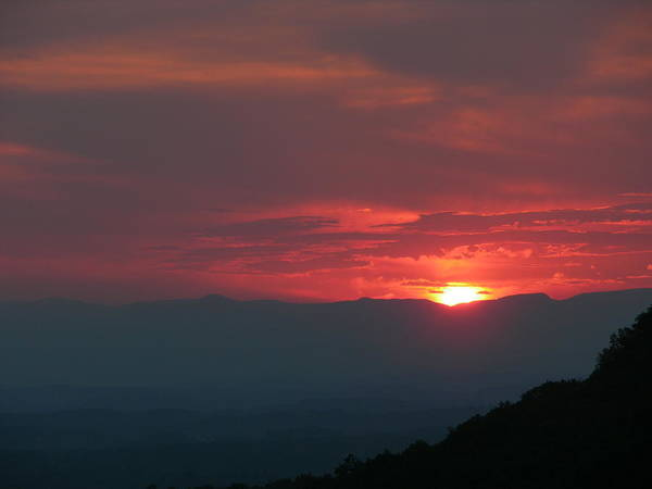 Sunset Poster featuring the photograph Edge Of Fire by John Geck