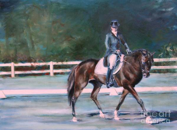 Horse Poster featuring the painting Effortless by Keith Cutrufello