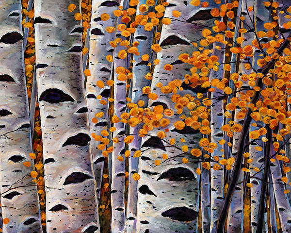 Aspen Poster featuring the painting Effulgent October by Johnathan Harris