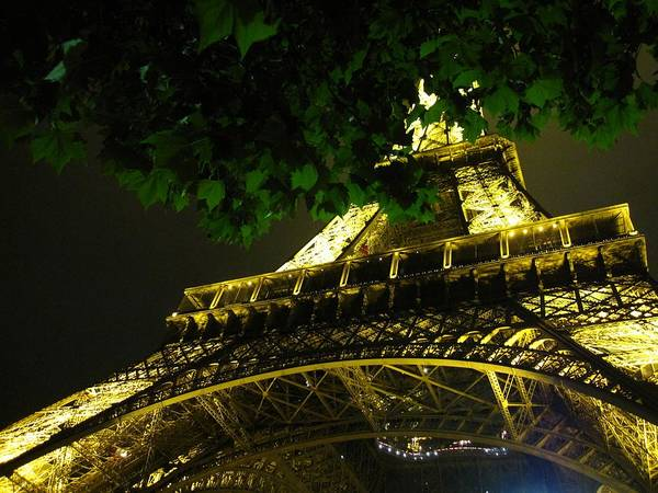 Eiffel Tower Poster featuring the photograph Eiffel Tower At Night by Christina Solstad