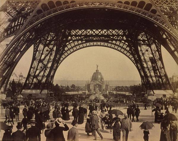 History Poster featuring the photograph Eiffel Tower, View Toward The Central by Everett