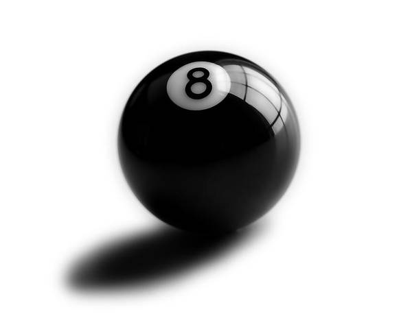 Pool Ball Poster featuring the photograph Eight Ball by Mark Wagoner