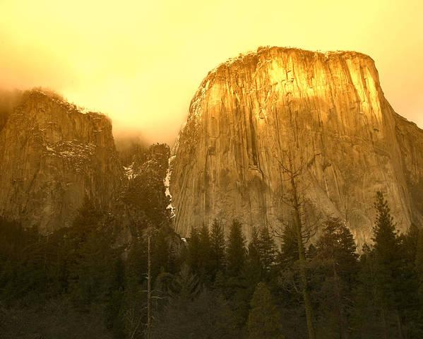 El Capitan Yosemite Valley Poster featuring the photograph El Capitan Yosemite Valley by Garry Gay