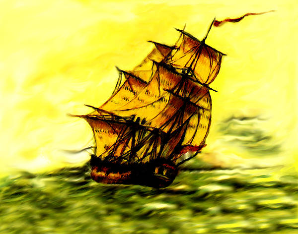 Spanish Galleon Poster featuring the photograph El Dorado by Rianna Stackhouse
