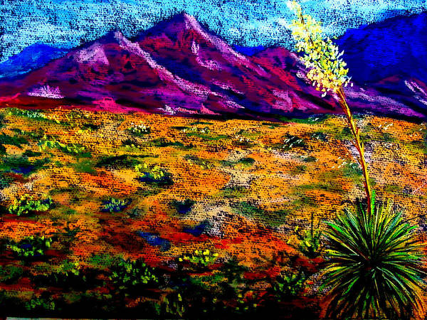 Yucca Poster featuring the painting El Paso by Melinda Etzold