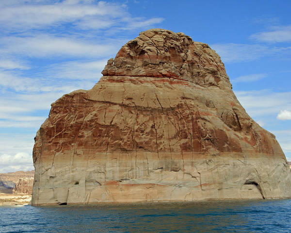 Rock Poster featuring the photograph Elephant Rock Lake Powell by Chuck Wedemeier