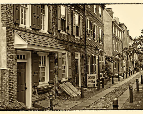 Philadelphia Poster featuring the photograph Elfreths Alley by Jack Paolini