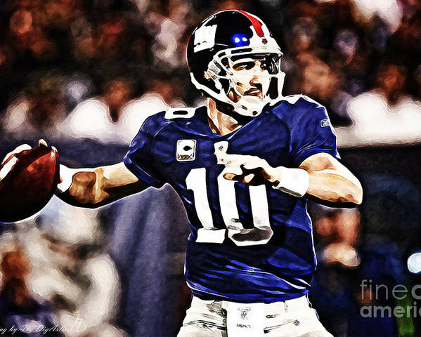 Nfl Poster featuring the digital art Eli Manning by The DigArtisT