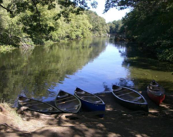 Boats Poster featuring the photograph Elm Bank - Boats by Nancy Ferrier