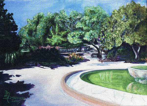 Miniature Poster featuring the painting Emerald Fountain by M Schaefer
