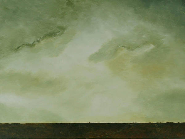 Original Acrylic Skyscape Poster featuring the painting Emerald by Sharon Steinhaus
