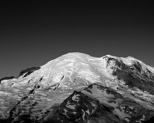 Emmons Glacier Poster featuring the photograph Emmons And Winthrope Glaciers On Mount Rainier by Brendan Reals