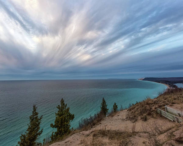 Empire Poster featuring the photograph Empire Bluffs 5 by Heather Kenward