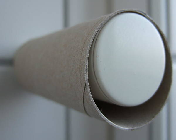 Toilet Paper Poster featuring the photograph Empty Toilet Paper Roll by Matthias Hauser