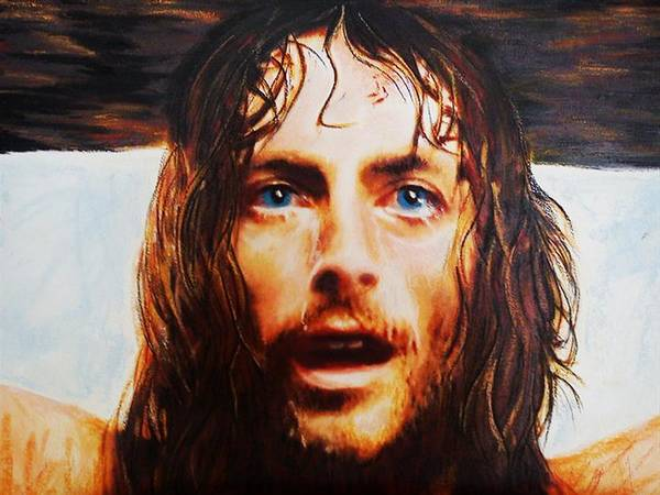 Jesus Poster featuring the painting Encumbrance by Mandy Thomas