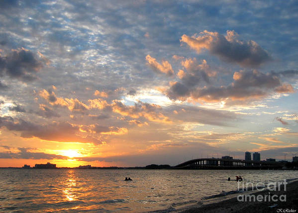 Landscape Poster featuring the photograph End Of A Beach Day by Keiko Richter