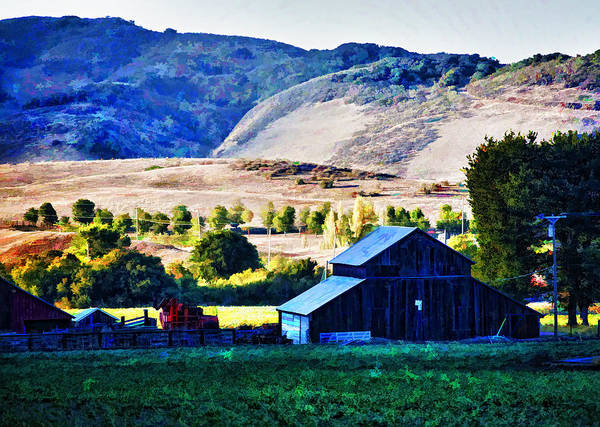 Farm Poster featuring the digital art End Of Day by Patricia Stalter