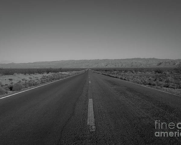 Endless Road Poster featuring the photograph Endless Road Bw by Michael Ver Sprill