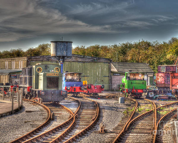 Engines Poster featuring the photograph Engine Sheds Quainton Road Buckinghamshire Railway by Chris Thaxter