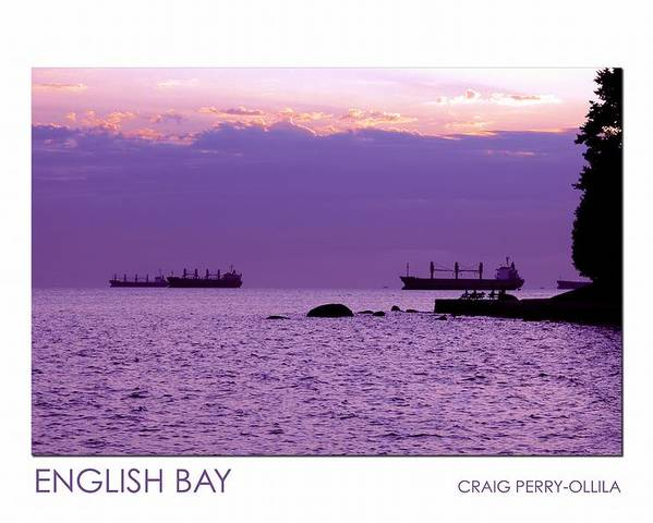 English Bay Poster featuring the photograph English Bay by Craig Perry-Ollila