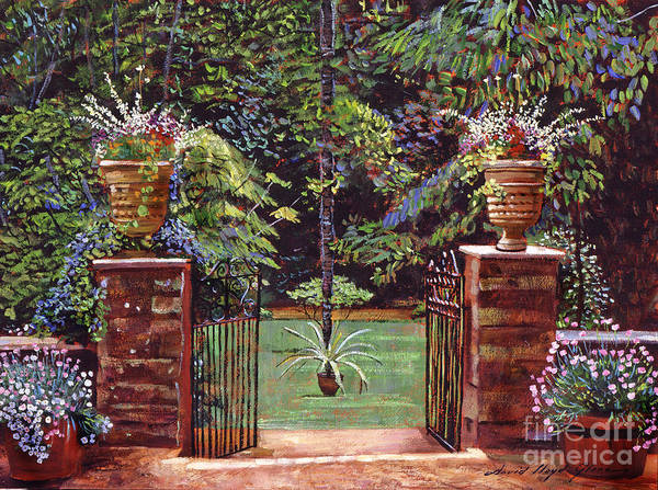 Gardens Poster featuring the painting English Garden Elegance by David Lloyd Glover