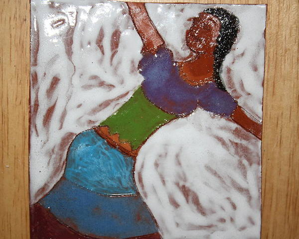 Jesus Poster featuring the ceramic art Enid - Tile by Gloria Ssali