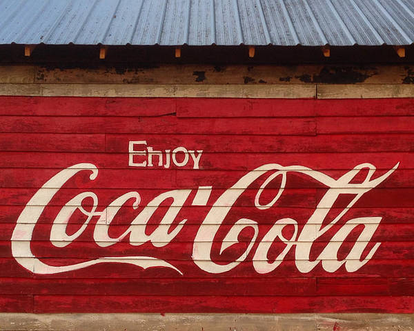 Rural Poster featuring the photograph Enjoy Coke by Keith May